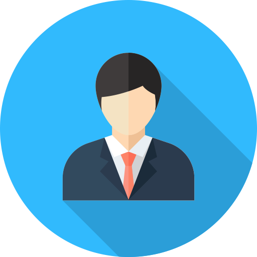 businessman officeworker user icon with png and vector