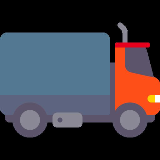 Truck, Fill, Flat Icon