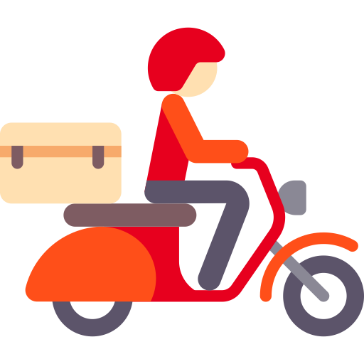 Motorcycle, Fill, Flat Icon