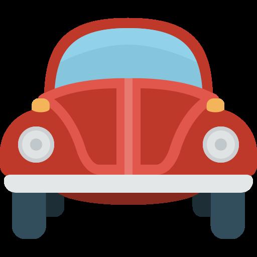 Vintage Car, Fill, Flat Icon