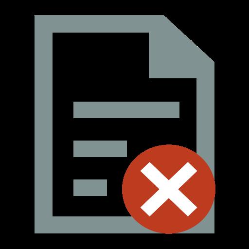 File Deletion, File, Delete Icon