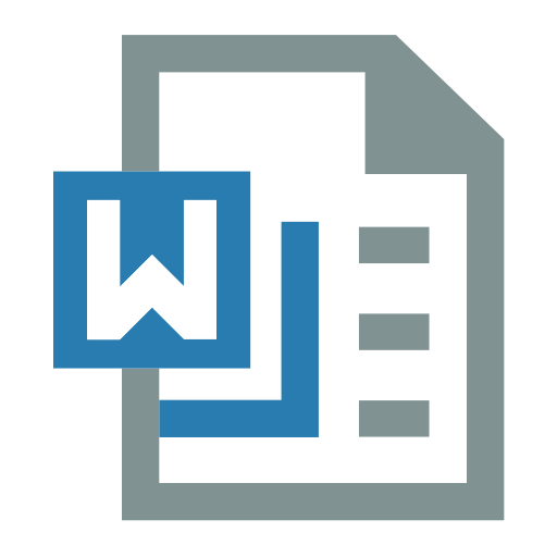 Word, Office, File Icon