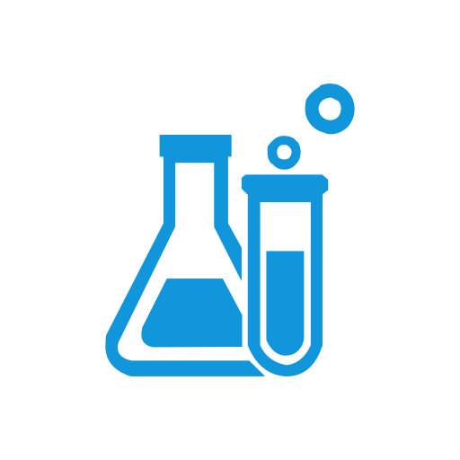 experiment lab laboratory icon with png and vector