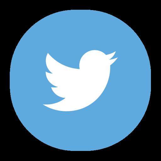 Twitter, Multicolor, Simple Icon