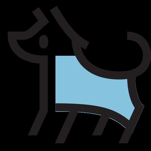 Dog, Linear, Flat Icon