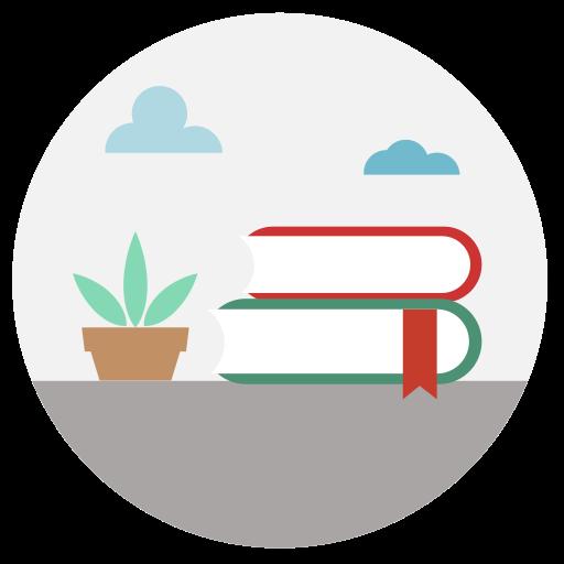 Book, Bookmark, Furniture Icon