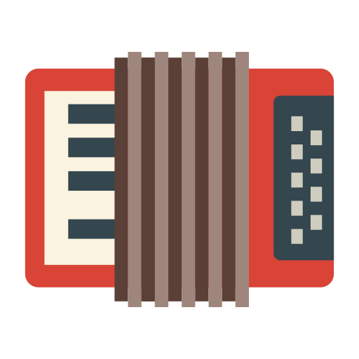 Accordion, Multicolor, Audio Icon