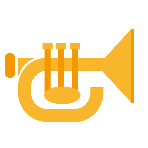 Horn, Multicolor, Music Player Icon
