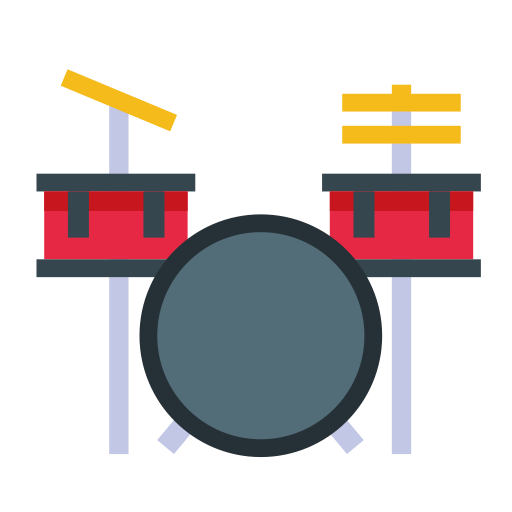 Drum Kit, Drum Set, Just Drums Icon