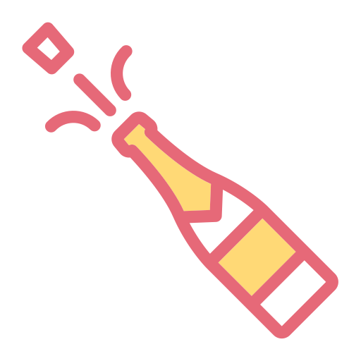 Champagne, Household, Red Wine Icon