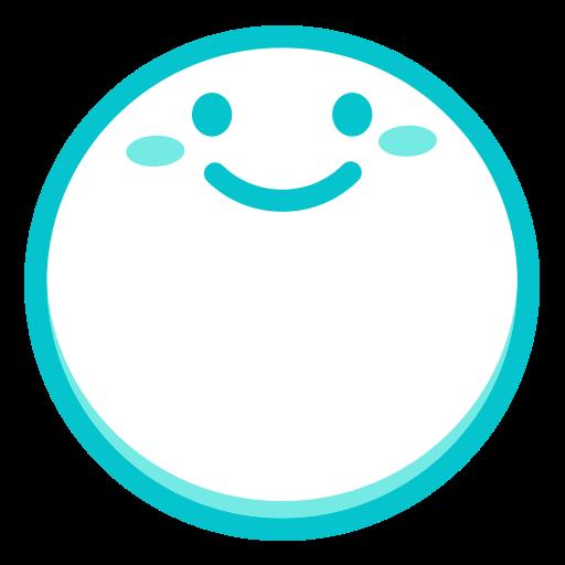 Smile, Fill, Multicolor Icon