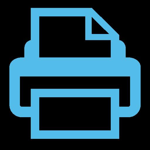 Print, Print Options, Print Setting Icon