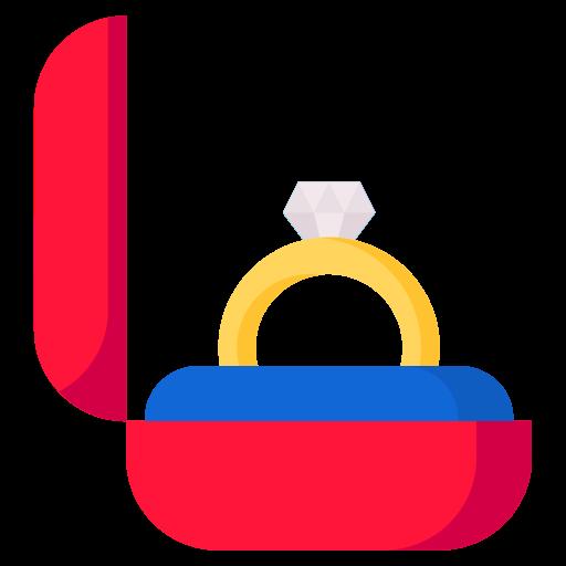 Diamond Ring, Round, Multicolor Icon