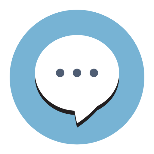 Message Chat, Fill, Flat Icon