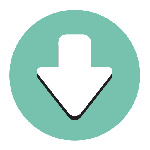 Download, Fill, Flat Icon