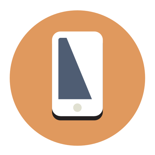 Mobile Phone, Fill, Flat Icon