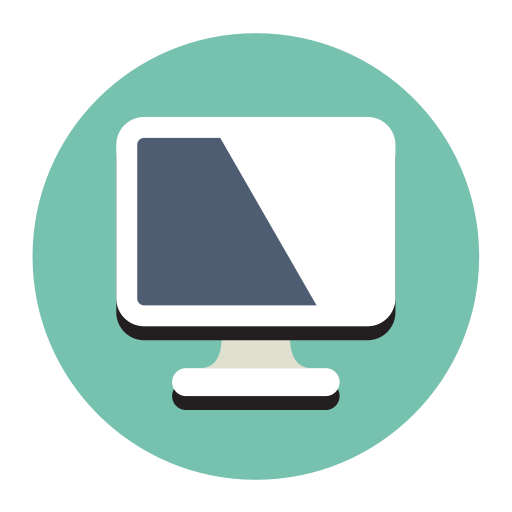 Computer, Fill, Flat Icon