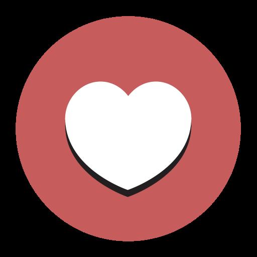 Heart, Fill, Flat Icon
