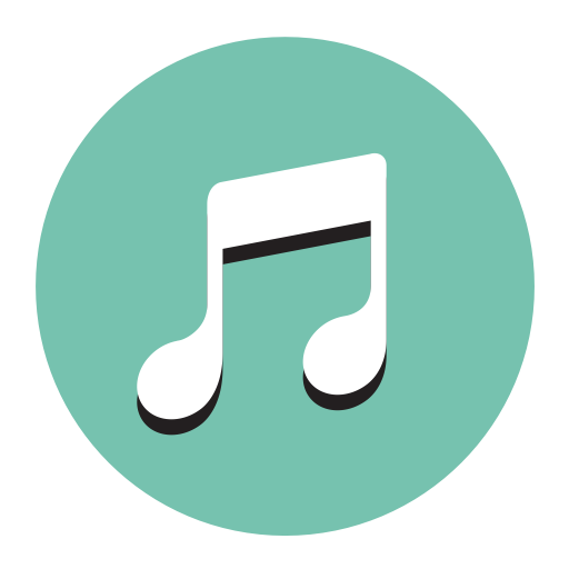 Music, Fill, Flat Icon