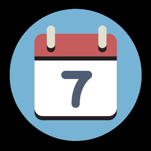 Calendar, Fill, Flat Icon