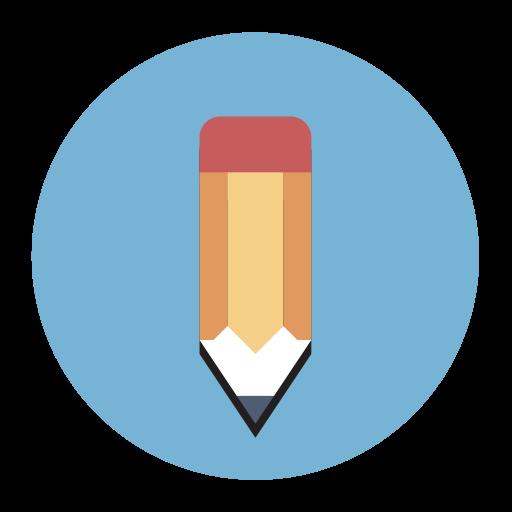 Pen Editor, Fill, Flat Icon