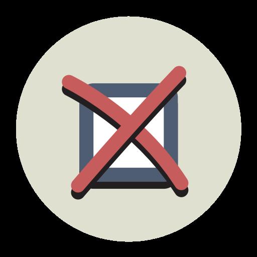 Cancel, Fill, Flat Icon