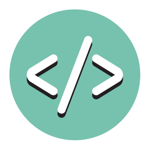 Code, Fill, Flat Icon