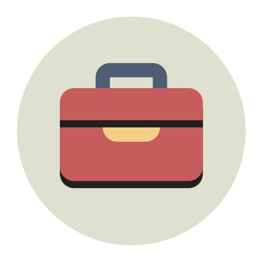 Briefcase, Fill, Flat Icon