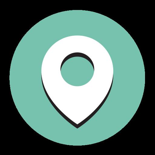 Location, Fill, Flat Icon