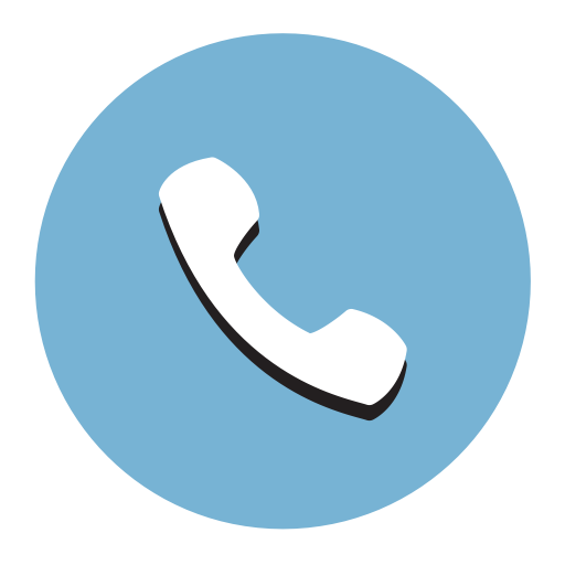 Telephone, Fill, Flat Icon