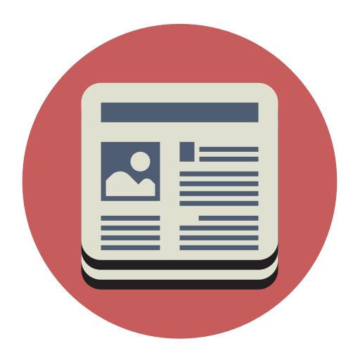 Newspaper News, Fill, Flat Icon