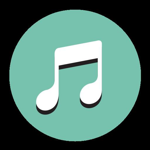Music, Fill, Flat Icon