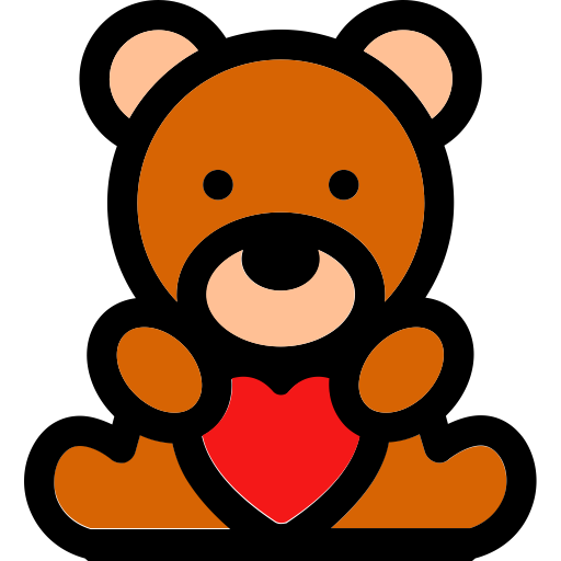 Bear Heart, Bear, Play Icon