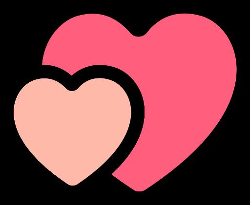 Two Hearts, Hearts, Love Icon