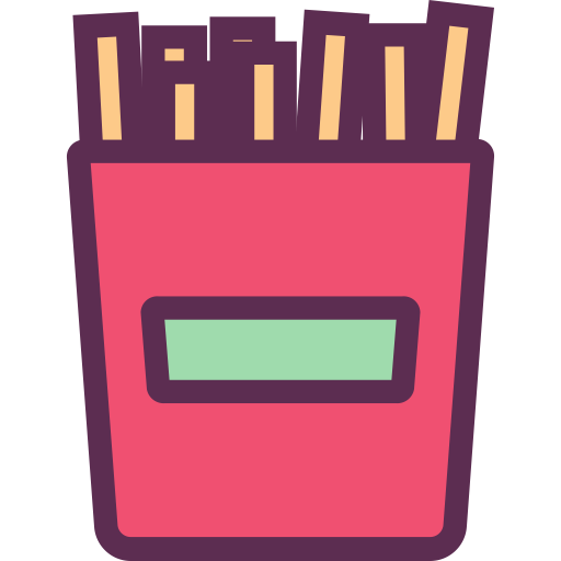 French Fries, French Fries Box, Fries Box Icon