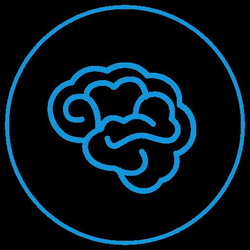 Brain, Bulb, Creativity Icon