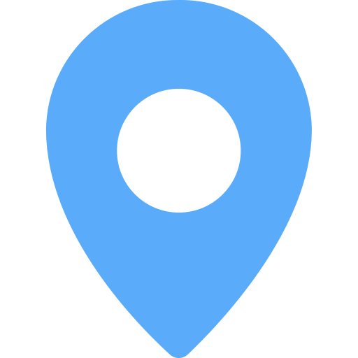 Location Blue, Blue, Home Icon