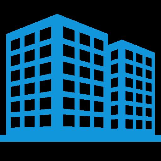 Multi Storied Building, Multi Skilled, Multitasking Skills Icon