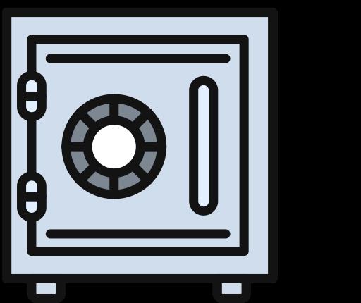 Safe Deposit Box, Multicolor, Fill Icon