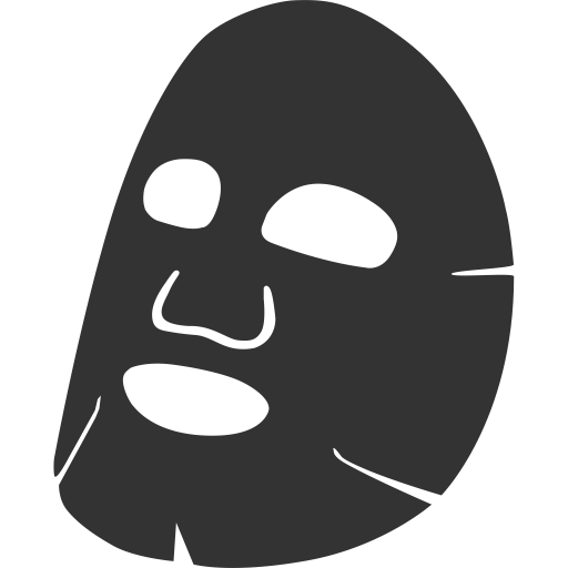 facial mask  facial  plastic icon with png and vector