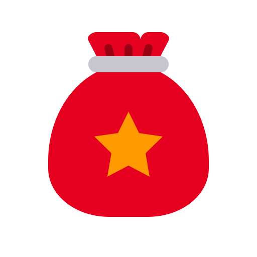 Santa Bag Gift Pr, Santa, Sleigh Icon