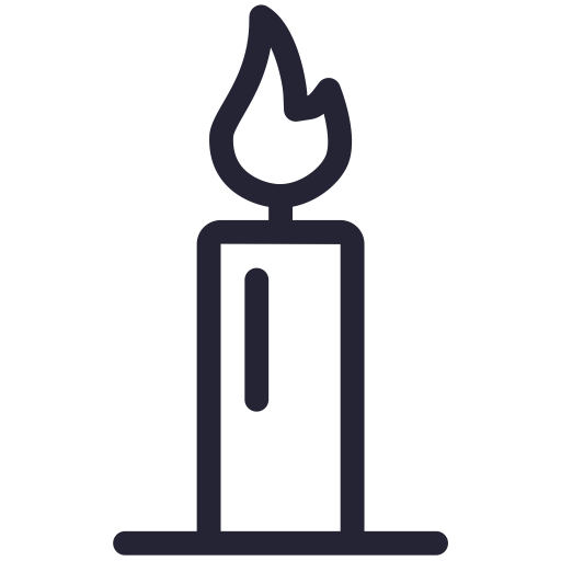 Candle, Cross, Easter Icon