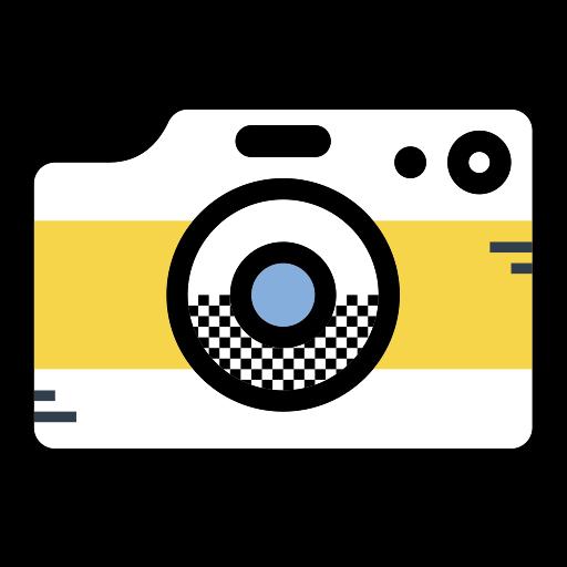 Camera, Fill, Multicolor Icon