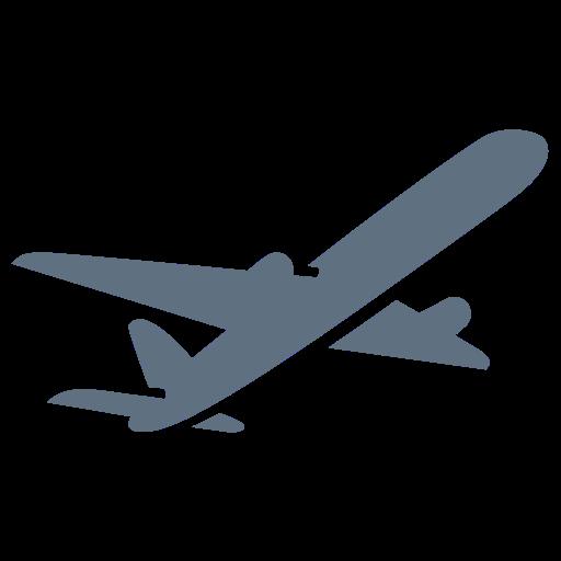 Airplane Flight Paper Ticket Plane Icon