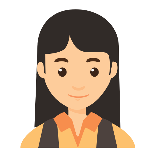 avatar female facial features  fill  flat icon with png