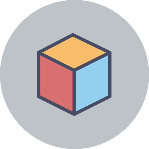 Cube, Drawing, Form Icon