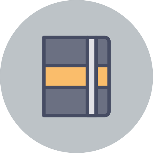 Notebook, Spects, Web Learning Icon