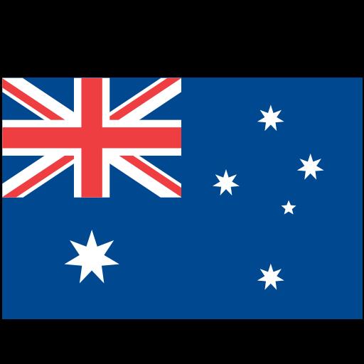 Australia, Flat, Monochrome Icon