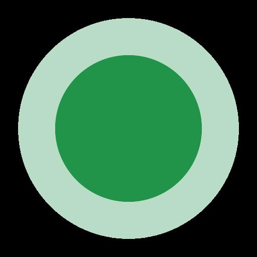 Green Circle, Green, Leaf Icon