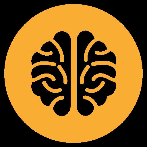 Brain Cancer, Fill, Flat Icon